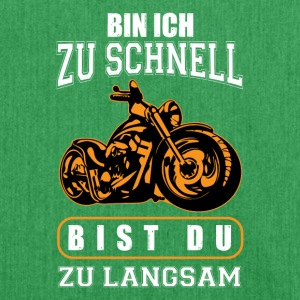 Motorrad schnell - Schultertasche aus Recycling-Material