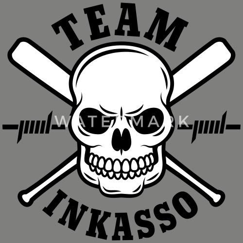 Team Inkasso Totenkopf Umhängetasche Aus Recyclingmaterial Spreadshirt