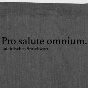 Pro salute omnium. - Schultertasche aus Recycling-Material