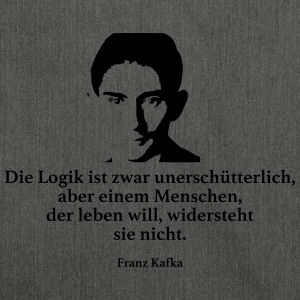 Kafka: The logic is unshakeable, though - Shoulder Bag made from recycled material