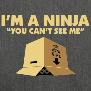 I'm A Ninja. You Can't See Me. - Shoulder Bag made from recycled material