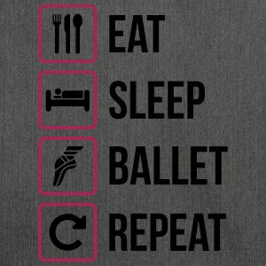 Eat Sleep Ballet Repeat - Schultertasche aus Recycling-Material