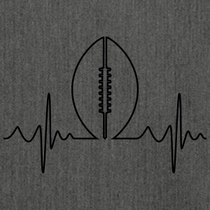 American Football Heartbeat - Schoudertas van gerecycled materiaal