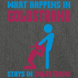 Goldstrand what happens there - Schultertasche aus Recycling-Material