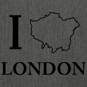 I love I love London United Kingdom - Shoulder Bag made from recycled material