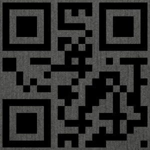 QR code: kiss me - Shoulder Bag made from recycled material
