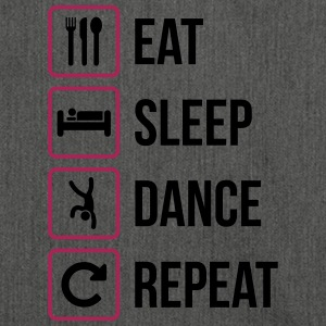 Eat Sleep Dance Repeat - Schultertasche aus Recycling-Material