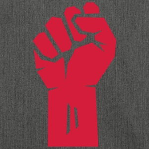 Raised Fist rosso. - Borsa in materiale riciclato