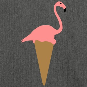 Flamingo ice cream - Shoulder Bag made from recycled material