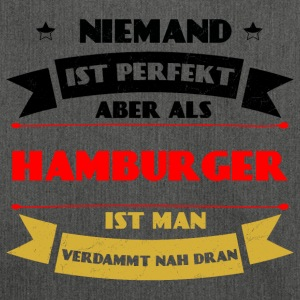 Perfect Hamburger - Hamburg Duitsland haven - Schoudertas van gerecycled materiaal