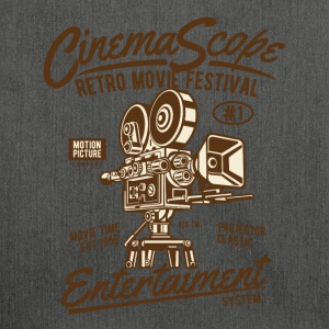 RETRO MOVIE FESTIVAL - Cinema and Movie Shirt Motif - Shoulder Bag made from recycled material
