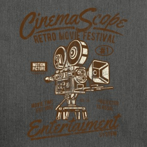 CINEMASCOPE - Cinema and Camera Shirt Motif - Shoulder Bag made from recycled material