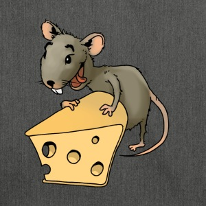 Fiese mouse rodent mouse vermin rodent cheese - Shoulder Bag made from recycled material
