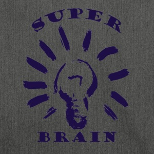 Super Brain Dark - Schoudertas van gerecycled materiaal
