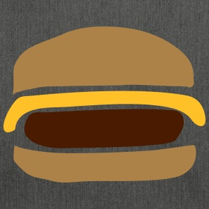 Cheeseburger, Hamburger - Skuldertaske af recycling-material