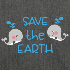 Save the earth - Schultertasche aus Recycling-Material