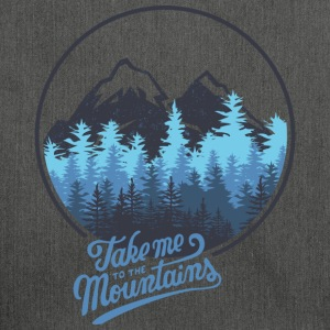 Take me to the mountains - mountain - Shoulder Bag made from recycled material