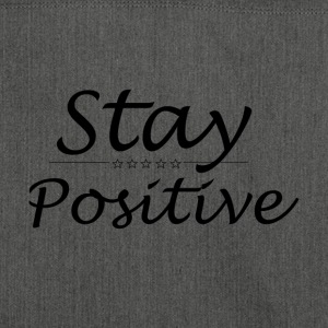 Stay Positive - Schultertasche aus Recycling-Material
