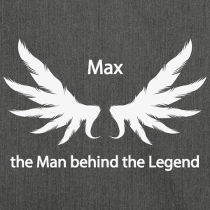 Max the Man behind the Legend - Schultertasche aus Recycling-Material