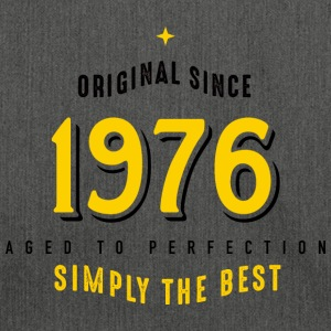 original since 1976 simply the best 40. Geburtstag - Schultertasche aus Recycling-Material