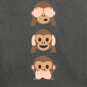 Monkey Emoji limited edition - Schoudertas van gerecycled materiaal