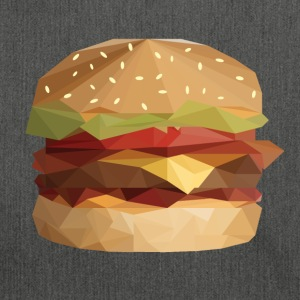 Burger Low Poly - Sac bandoulière 100 % recyclé