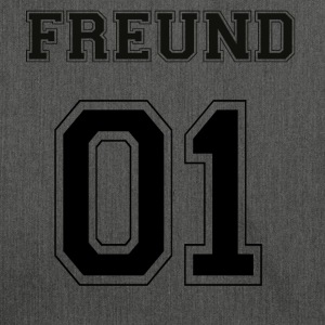Freund - Black Edition - Schultertasche aus Recycling-Material