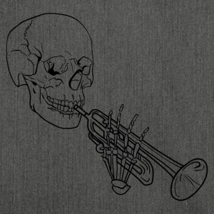 Skeleton with Trumpet - Schultertasche aus Recycling-Material