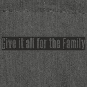 Give_it_all_for_the_Family ontwerp - Schoudertas van gerecycled materiaal