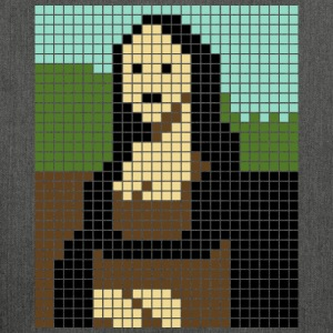 Monalisa pixel art - Shoulder Bag made from recycled material