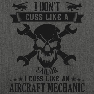Mechanic Aircarft Mechanics cuss like a sailor - Schultertasche aus Recycling-Material