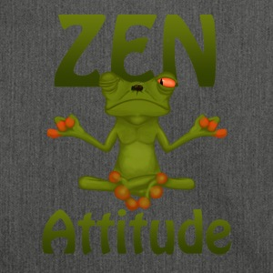 Frog Zen Attitude - Shoulder Bag made from recycled material