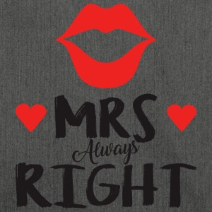 Mrs. Always right Valentinstag - Schultertasche aus Recycling-Material