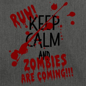 RUN ZOMBIES ARE COMING HALLOWEEN GESCHENK OKTOBER - Schultertasche aus Recycling-Material
