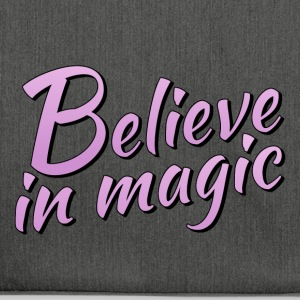 Believe in magic logo in lilac - Shoulder Bag made from recycled material