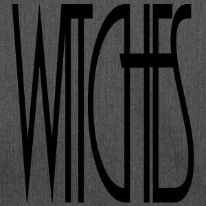WITCHES Witch Statement lettering Schriftzug - Schultertasche aus Recycling-Material