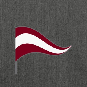 Lettland Riga Flagge Landesfarbe Fahne Heimatland - Schultertasche aus Recycling-Material