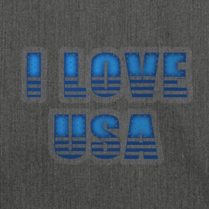 J'AIME AMERICA USA ATOUT FOOTBALL NEW YORK AMOUR - Sac bandoulière 100 % recyclé