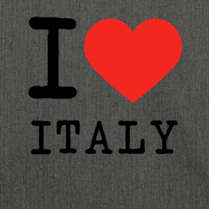 I love Italy - Schultertasche aus Recycling-Material