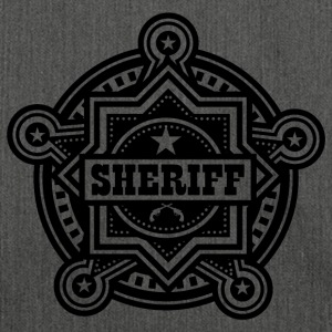 Badge of sheriff or Marshall - Shoulder Bag made from recycled material
