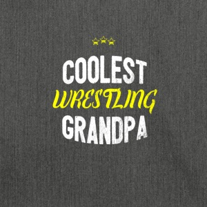 Distressed - COOLEST WRESTLING GRANDPA - Shoulder Bag made from recycled material
