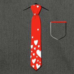 Valentine's Day Neck Tie With Pocket - Shoulder Bag made from recycled material