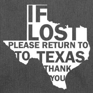 If lost Texas - Schoudertas van gerecycled materiaal