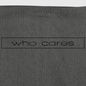who cares - Shoulder Bag made from recycled material