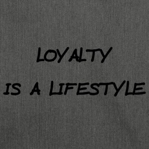 LOYALTY IS A LIFESTYLE - schwarz - Schultertasche aus Recycling-Material