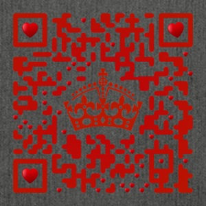 Keep calm, I 'm just a lovely QR - Code! - Shoulder Bag made from recycled material