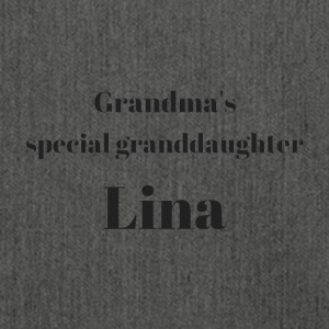 Grandma s special granddaughter Lina - Shoulder Bag made from recycled material