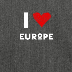 I Love Europe eu heart red love statement Demo fun - Shoulder Bag made from recycled material