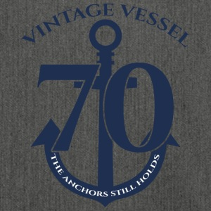70th Birthday: Vintage Vessel - 70 - The Anchors - Shoulder Bag made from recycled material