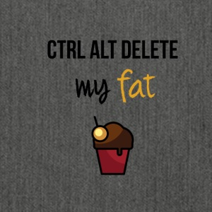 Delete my fat - Schultertasche aus Recycling-Material